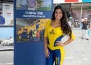 anfitrionas corporativas y modelos publicitarias en Lima