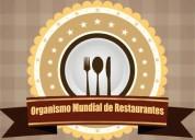 Busco socios para organismo mundial de restaurantes para poner sede en el peru en lima