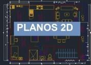 Se realizan planos y dibujos 2d en autocad