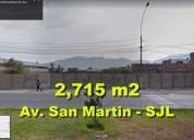 Vendo terreno de 2 715 m2 en san juan de lurigancho en lima