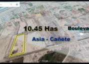 Ocasion vendo terreno 104 551 m2 en asia canete en cañete