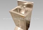 Lavamanos de pedestal de acero inox. lima- perú