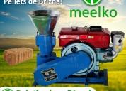 Peletizadora 200mm 15 hp diesel mkfd200a