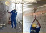 Lanzadora de mortero para techo y paredes