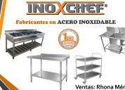 Fabricamos cocinas industriales. acero inoxidable.