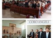 Coro angeli violines y música para misas difuntos