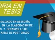 Servicio de asesoría y desarrollo de tesis