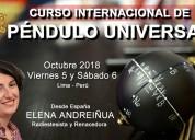 Curso de internacional de pÉndulo universal