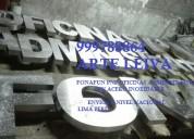Letras publicitarias corporativas de acero inox