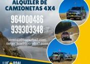 Alquiler de camionetas 4x4 en huancavelica