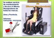 Mantenimiento de sillones masajeadores - arequipa
