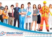 Agencia de empleos master house con experiencia!!!