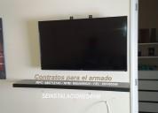 instalacion / desinstalacion de rack para tv