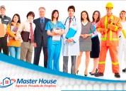 Agencia de empleos master house, con experiencia e