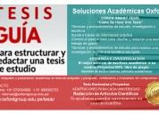 Asesoría y acompañamiento de tesis y trabajos