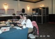 Traducción equipos para eventos perú c. 997163010