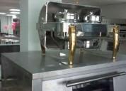 Samovar rectangular con bandeja acero inox -