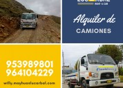 Aquiler de camiones y minivan en huancavelica