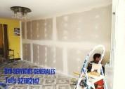 Trabajos en drywall, electricidad, gasfiteria