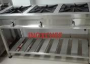 Cocina industrial 3 hornillas inoxchef lima peru