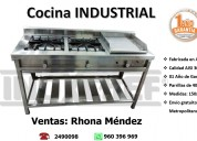 Cocina industrial 2 hornillas con plancha de freír