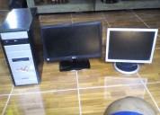 Vendo una cpu y 2 monitores en buen estado