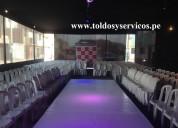 Alquiler de silla y mesas decoradas para tu evento