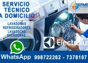 981091335 !¡profesionales de lavadoras!¡electrolux
