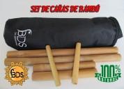 Set de caÑas de bambu para masajes agregar a favo
