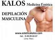 Depilacion masculina en lima kalos medicina estéti