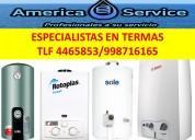 Reparacion y mantenimiento de termas. tlf 4465853