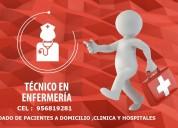 Cuidado de pacientes a domicilio ,clínicas