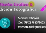 Edición de fotos retocador fotográfico particular