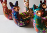 Llamitas artesanías cerámicas regalos decoración
