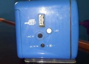 Radio cubo fm con led y multipuerto usb s/. 6
