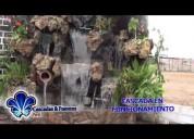 Piletas,panel de burbujas,cascadas
