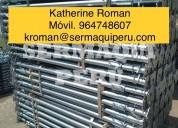 Venta de puntales galvanizados importados nuevos