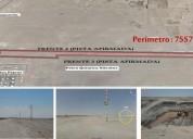 Venta terreno industrial i2 en paracasica en pisco