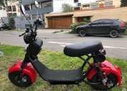 moto scooter electrica tipo harley en lima
