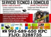 Tecnico de pc,laptops,redes wifi,a domicilio