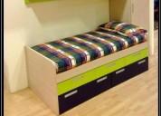 Dormitorios, cama juveniles en melamine