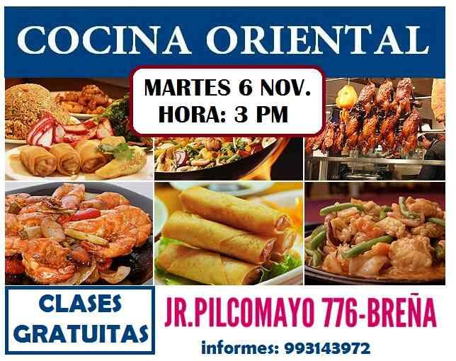 CLASES GRATUITAS DE COCINA ORIENTAL