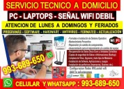 Servicio tecnico a pc,redes wifi,laptops,internet