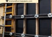 Venta de encofrado de madera con paneles