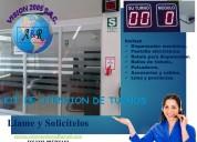 Turnomaticos con pantallas electronicas