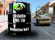 Venta de asfalto liquido mc-70