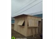 Kioscos prefabricados de madera