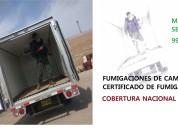 Servicio de fumigacion para camiones, certificado