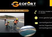 Venta de geomembrana - geofort