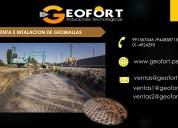 Venta de geomallas - grupo geofort
